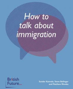 """Front cover of """"how to talk about immigration"""""""